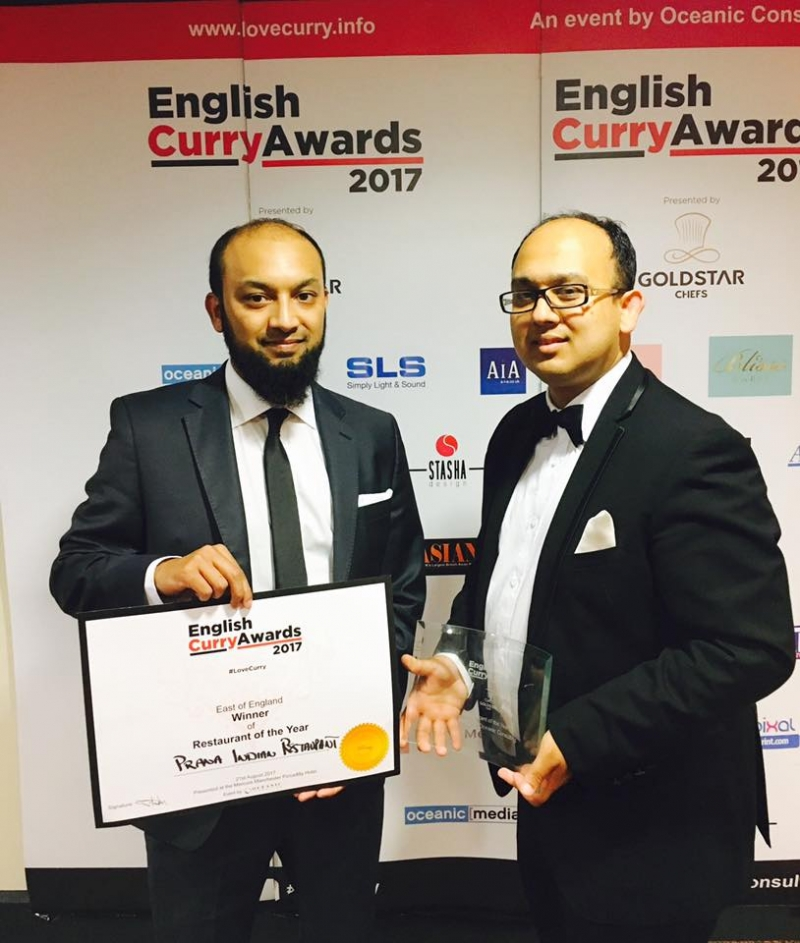 English Curry Awards Winner 2017