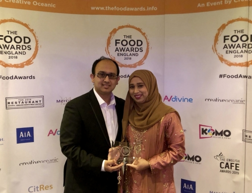 Indian Restaurant 'Prana' winners of Best Indian Establishment – Overall & South category at the Food Awards England 2018